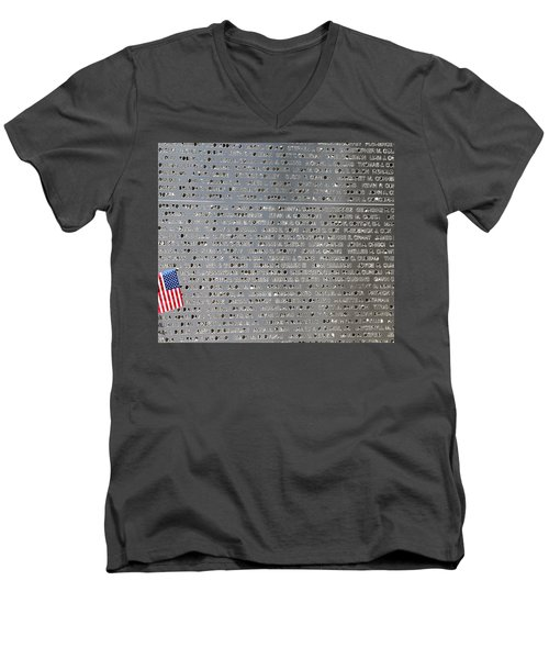 9-11 Memorial Rocky Point New York Men's V-Neck T-Shirt by Bob Savage