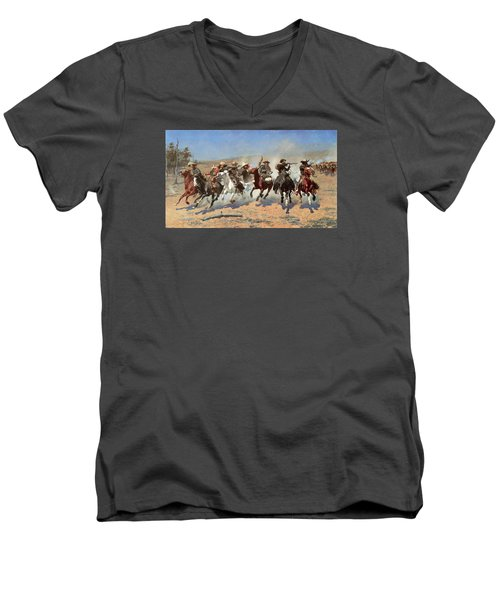 A Dash For The Timber Men's V-Neck T-Shirt
