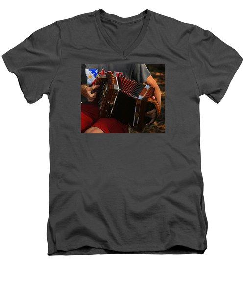 Acordian Men's V-Neck T-Shirt