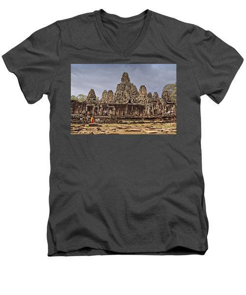 Men's V-Neck T-Shirt featuring the photograph Angkor Wat by Juergen Held