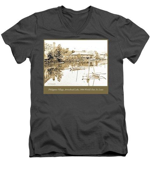 Arrow Head Lake, Philippine Village, 1904 Worlds Fair, Vintage P Men's V-Neck T-Shirt