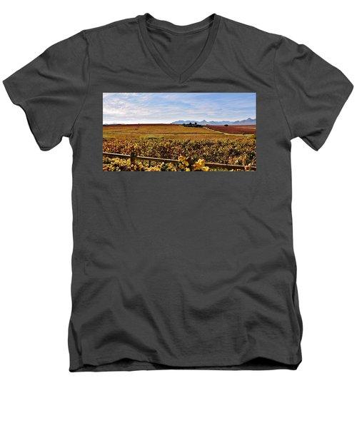 Autumn In The Vineyard Men's V-Neck T-Shirt