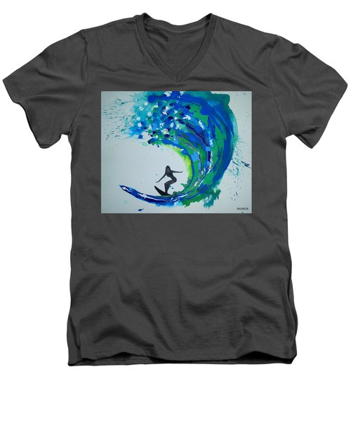 Badwave Men's V-Neck T-Shirt