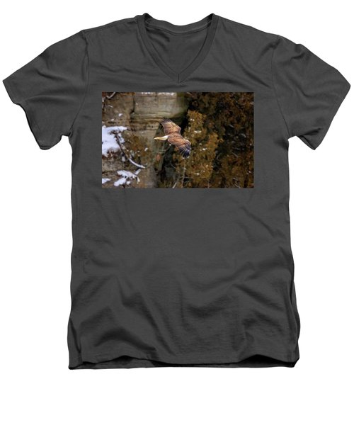 Men's V-Neck T-Shirt featuring the photograph Bald Eagle by Peter Lakomy