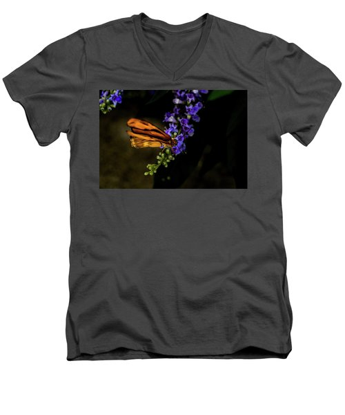 Men's V-Neck T-Shirt featuring the photograph Butterfly by Jay Stockhaus