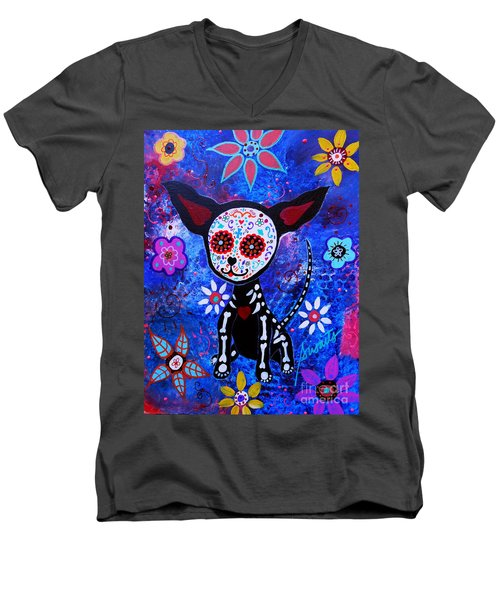 Chihuahua Day Of The Dead Men's V-Neck T-Shirt