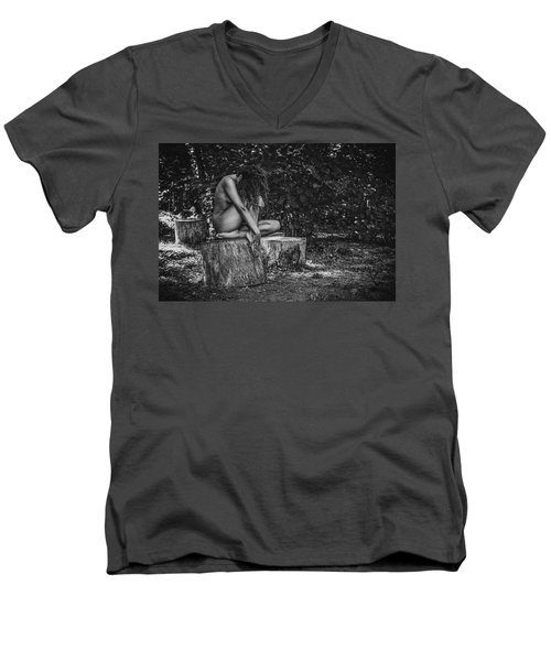 Men's V-Neck T-Shirt featuring the photograph Dany by Traven Milovich