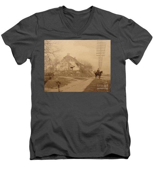 Dyckman Farmhouse  Men's V-Neck T-Shirt by Cole Thompson
