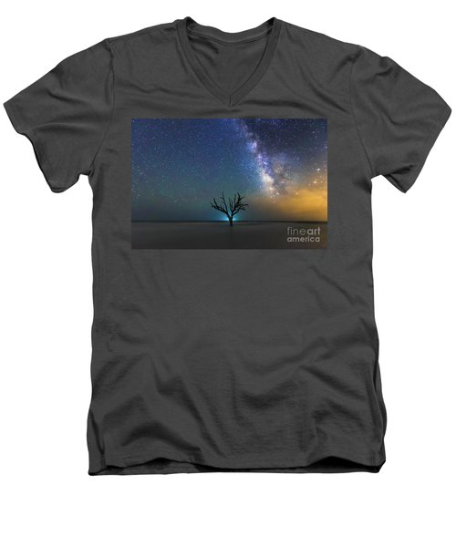 Edisto Island Milky Way Men's V-Neck T-Shirt