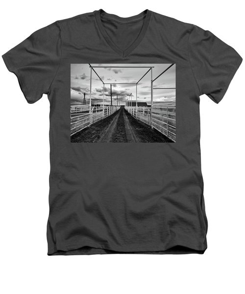 Empty Corrals Men's V-Neck T-Shirt by L O C