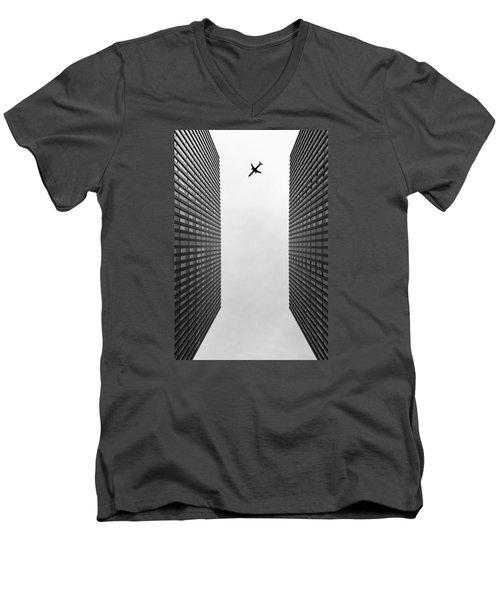 Enjoyable Flight Men's V-Neck T-Shirt by Jan Hochstein