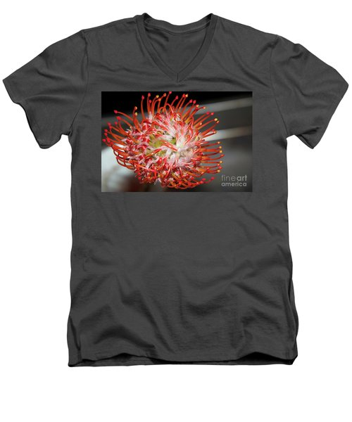 Exotic Flower Men's V-Neck T-Shirt by Elvira Ladocki