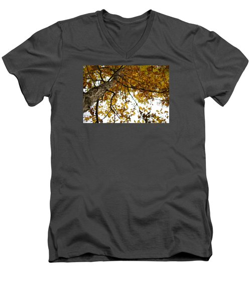 Men's V-Neck T-Shirt featuring the photograph Fall by Heidi Poulin