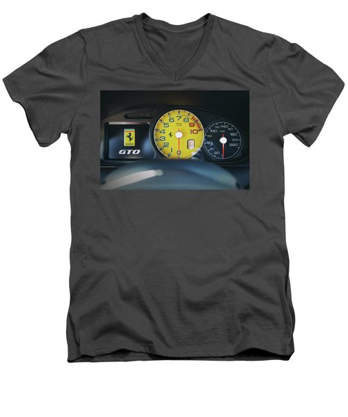#ferrari #599gto #print Men's V-Neck T-Shirt