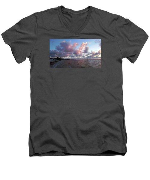 Florida Sunset Men's V-Neck T-Shirt by Vicky Tarcau