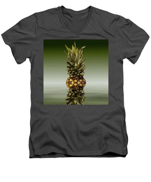 Men's V-Neck T-Shirt featuring the photograph Fresh Ripe Pineapple Fruits by David French