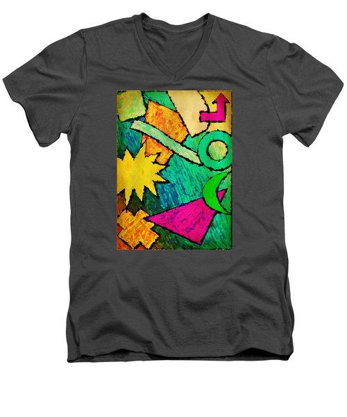 Funky Fanfare Men's V-Neck T-Shirt
