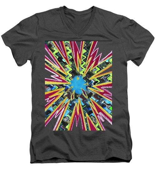 Goodluck Star Sparkles  Men's V-Neck T-Shirt by Navin Joshi