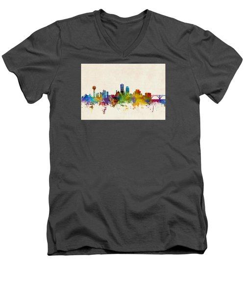 Knoxville Tennessee Skyline Men's V-Neck T-Shirt