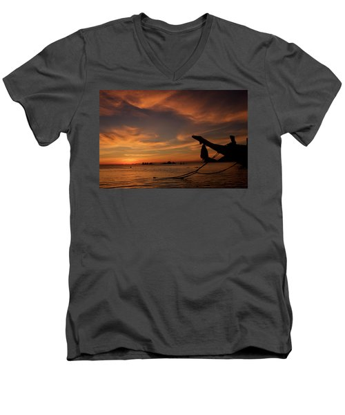 Koh Tao Island In Thailand Men's V-Neck T-Shirt by Tamara Sushko
