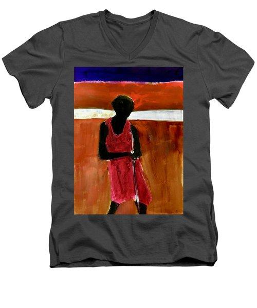 Masaai Boy Men's V-Neck T-Shirt