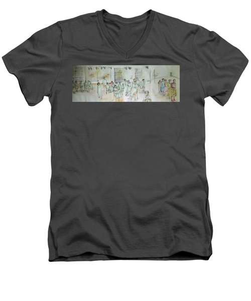 Mental Illness Hurts Album Men's V-Neck T-Shirt