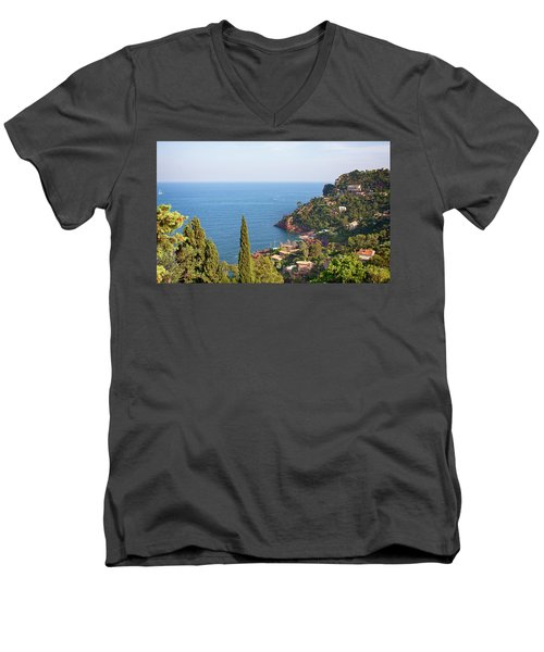 French Mediterranean Coastline Men's V-Neck T-Shirt