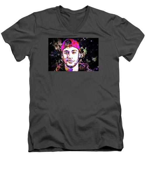Neymar Men's V-Neck T-Shirt
