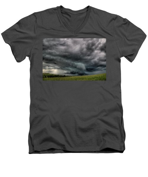 North Dakota Thunderstorm Men's V-Neck T-Shirt