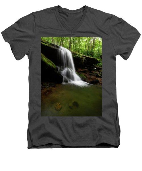 Otter Falls - Seven Devils, North Carolina Men's V-Neck T-Shirt