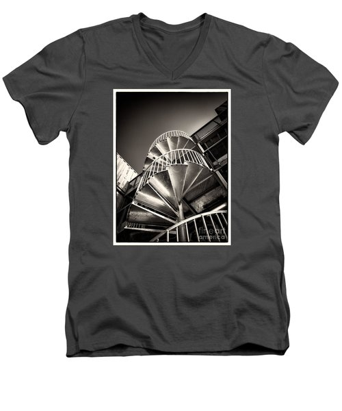 Pop Brixton - Spiral Staircase - Industrial Style Men's V-Neck T-Shirt