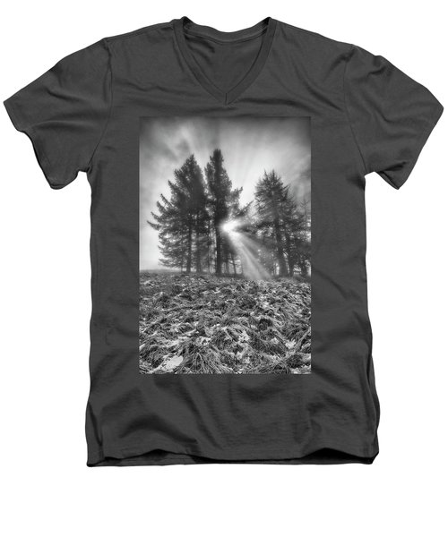 Men's V-Neck T-Shirt featuring the photograph Scottish Sunrise by Jeremy Lavender Photography