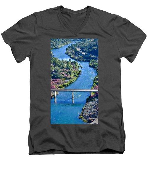 Shasta Dam Spillway Men's V-Neck T-Shirt