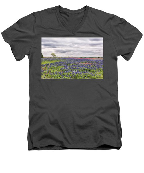 Texas Wildflowers 2 Men's V-Neck T-Shirt