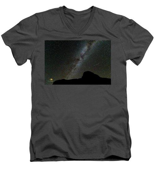 The Milky Way Men's V-Neck T-Shirt by Jim Thompson