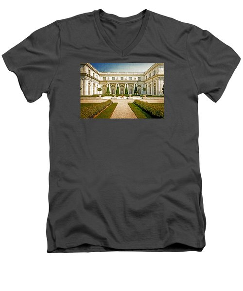 The Rosecliff Men's V-Neck T-Shirt by Sabine Edrissi