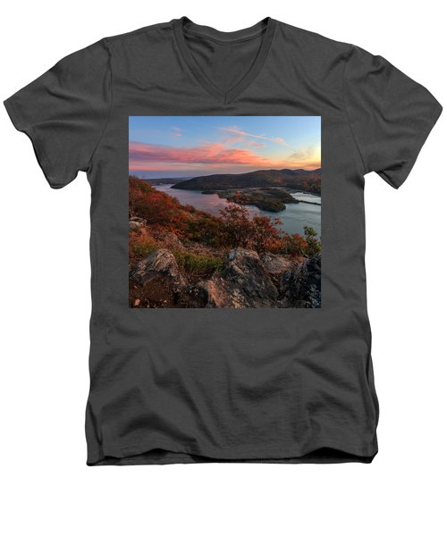 Men's V-Neck T-Shirt featuring the photograph The View  by Anthony Fields