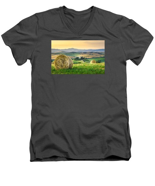 Tuscany Morning Men's V-Neck T-Shirt