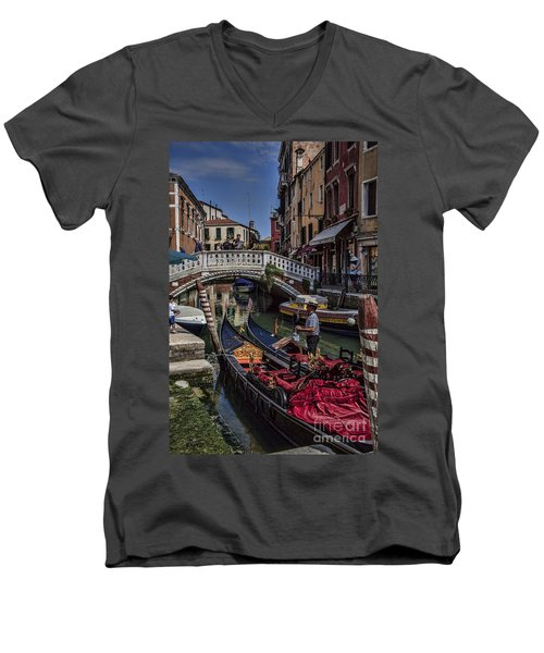 Men's V-Neck T-Shirt featuring the photograph Venice by Shirley Mangini