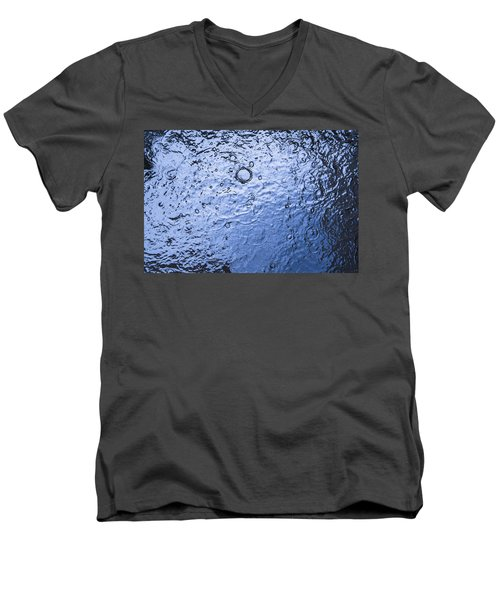 Water Abstraction - Blue Men's V-Neck T-Shirt