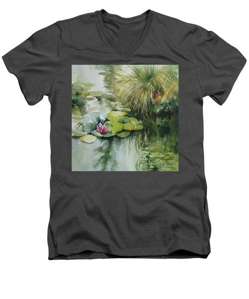 Waterlilies Men's V-Neck T-Shirt