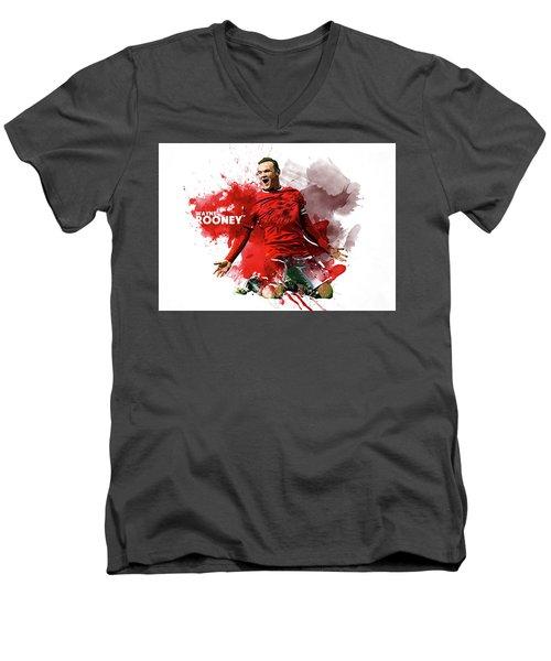 Wayne Rooney Men's V-Neck T-Shirt