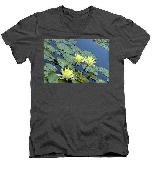3 Yellow Men's V-Neck T-Shirt