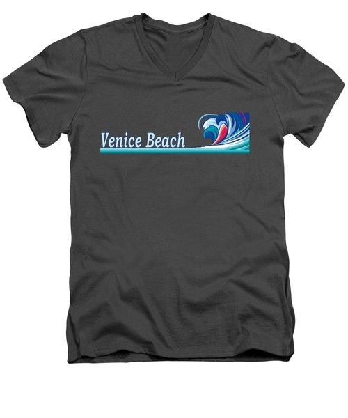 Venice Beach Men's V-Neck T-Shirt by Brian Edward