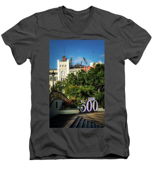 300 Years Of New Orleans Men's V-Neck T-Shirt