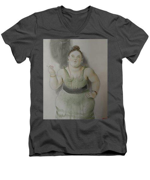Bogota Museo Botero Men's V-Neck T-Shirt