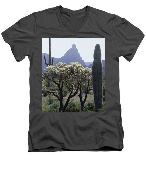 313737 Montezumas Head Men's V-Neck T-Shirt