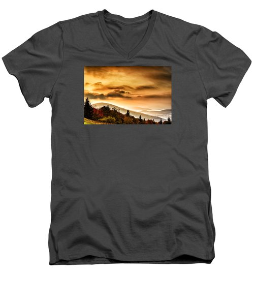 Allegheny Mountain Sunrise #33 Men's V-Neck T-Shirt