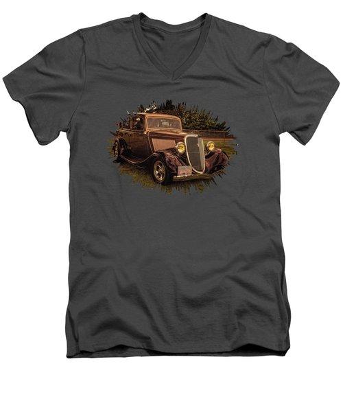 Cool 34 Ford Four Door Sedan Men's V-Neck T-Shirt
