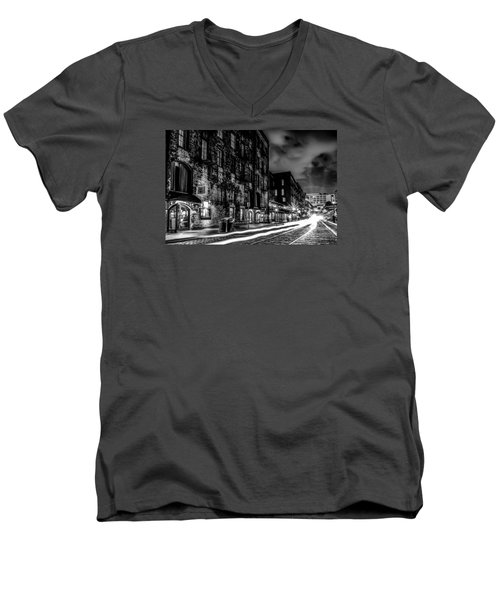 Savannah Georgia Waterfront And Street Scenes  Men's V-Neck T-Shirt